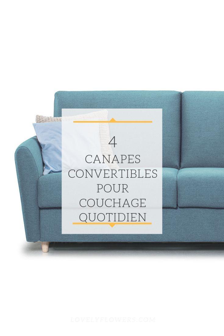 4 Canapés Convertibles Pour Couchage Quotidien Avec Matelas ... destiné Canape Lit Convertible Couchage Quotidien