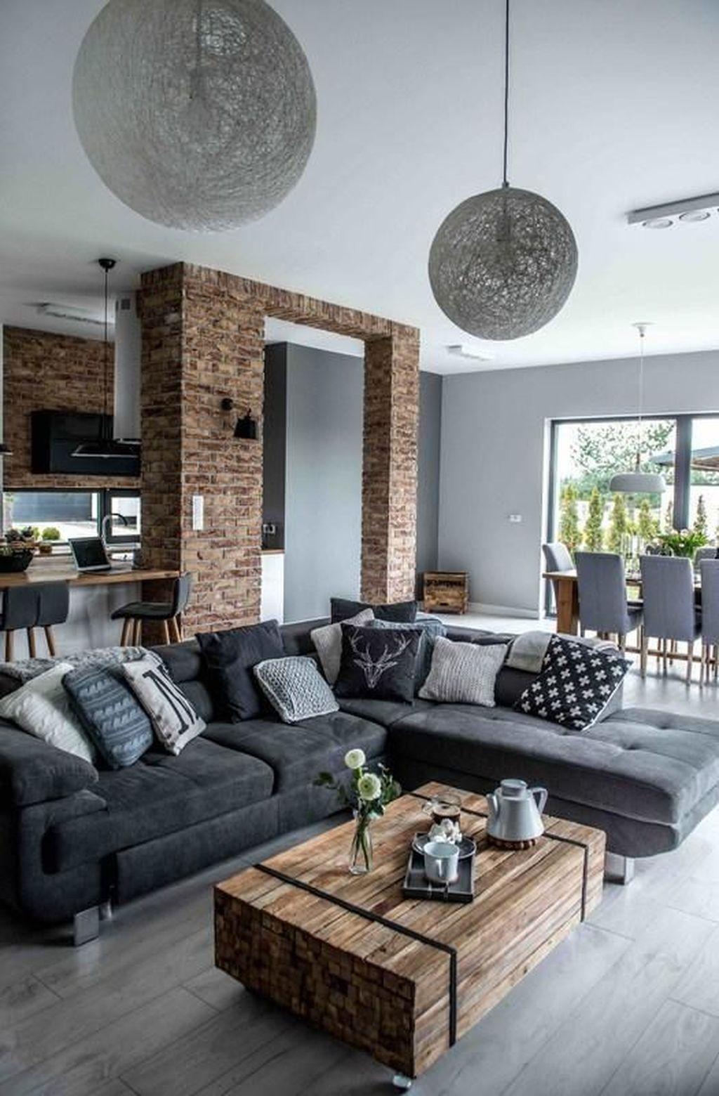 48 Simple Contemporary Home Decor Ideas | Déco Salon, Salon ... concernant Salon Gris Et Blanc