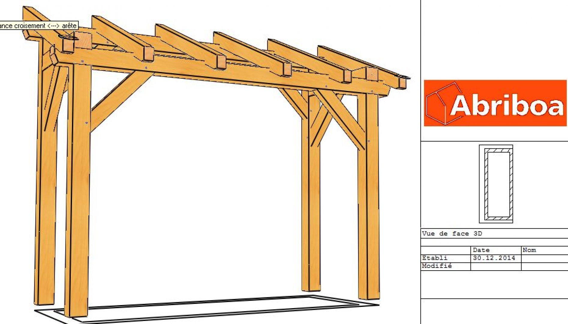 Abri À Bois 3.30Ml 4 Poteaux - Vente En Ligne D'abris En Bois En Kit destiné Abri Bois En Kit