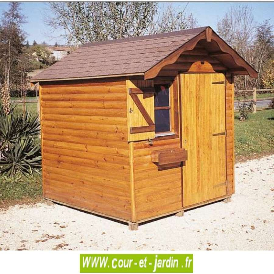 Abri Bois Alsace 4M² - Abris Et Rangements- Cour Et Jardin destiné Abri Jardin 4M2