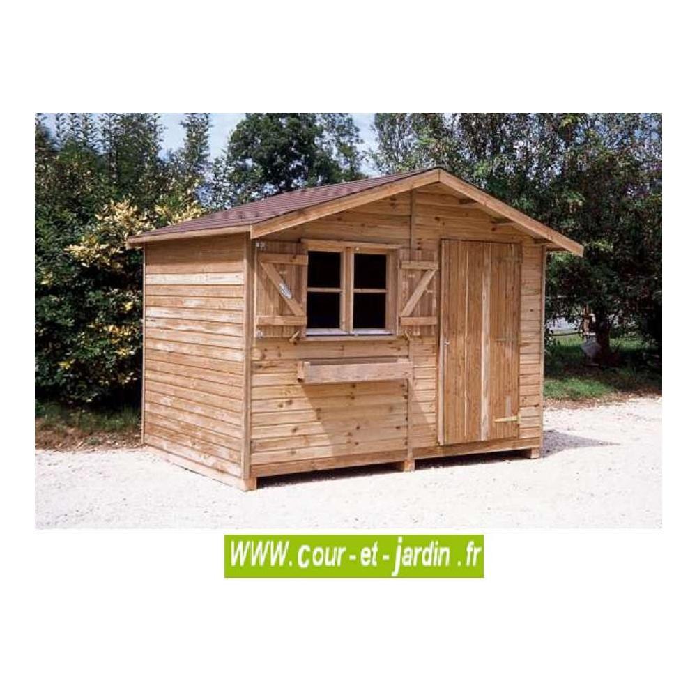 Abri Bois Pervenche 6M² - Abris Et Rangements- Cour Et Jardin concernant Abri Moto Bois