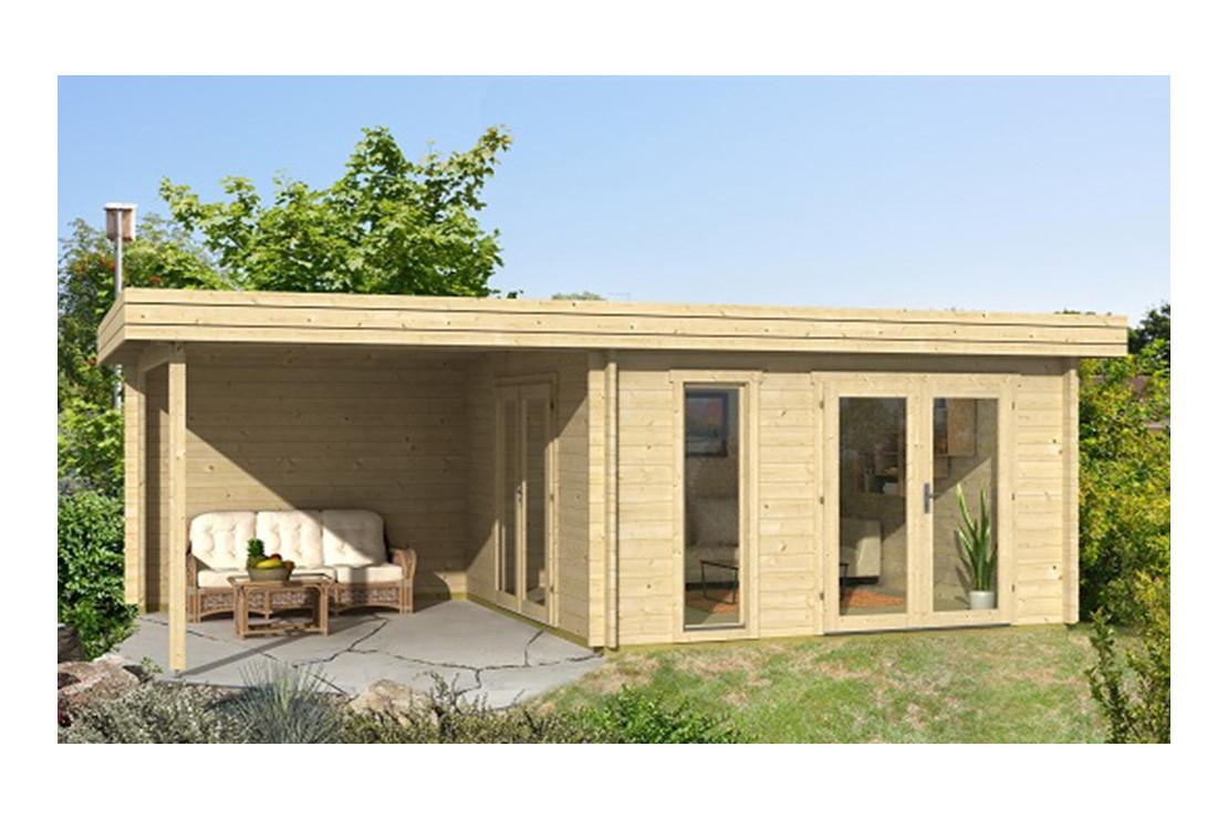 Abri Bois Rodez 44 Mm - 12,3 M² Intérieur + 9,4M² serapportantà Abri De Jardin En Kit
