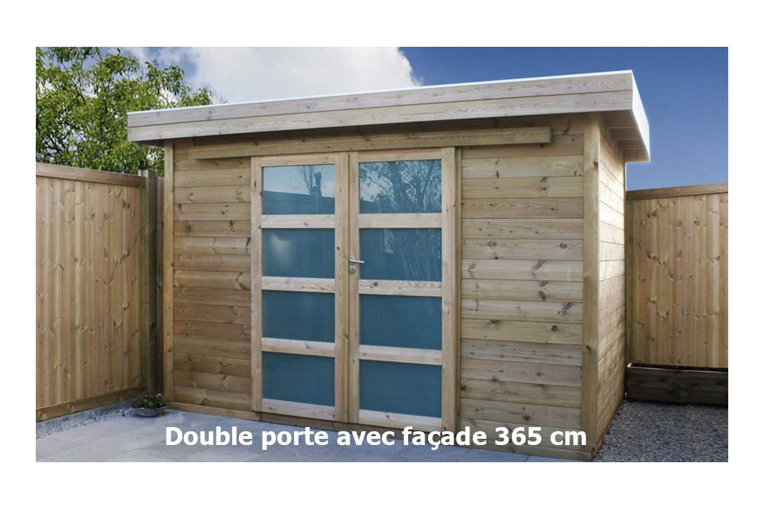 Abri De Jardin Autoclave Vintage Façade 365X275 Cm Panneaux 16Mm dedans Abri De Jardin Autoclave