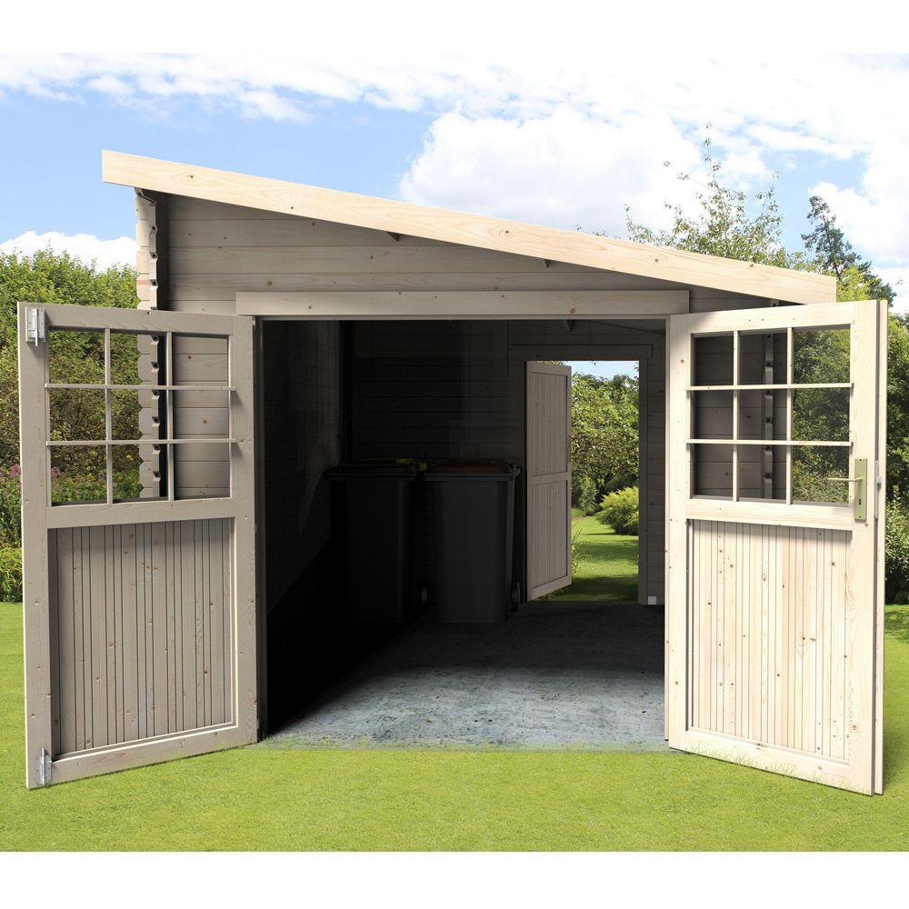 Abri De Jardin Bois Adossable Esprit 9,59 M² Ep. 28 Mm dedans Abri De Jardin 10M2