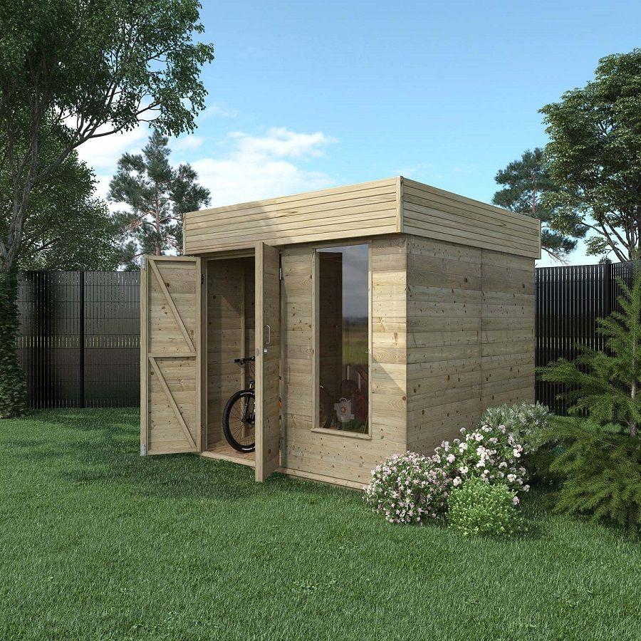 Abri De Jardin Bois Hutta 4.8 M² Ep.15 Mm - Leroy Merlin ... dedans Abri De Jardin Contemporain