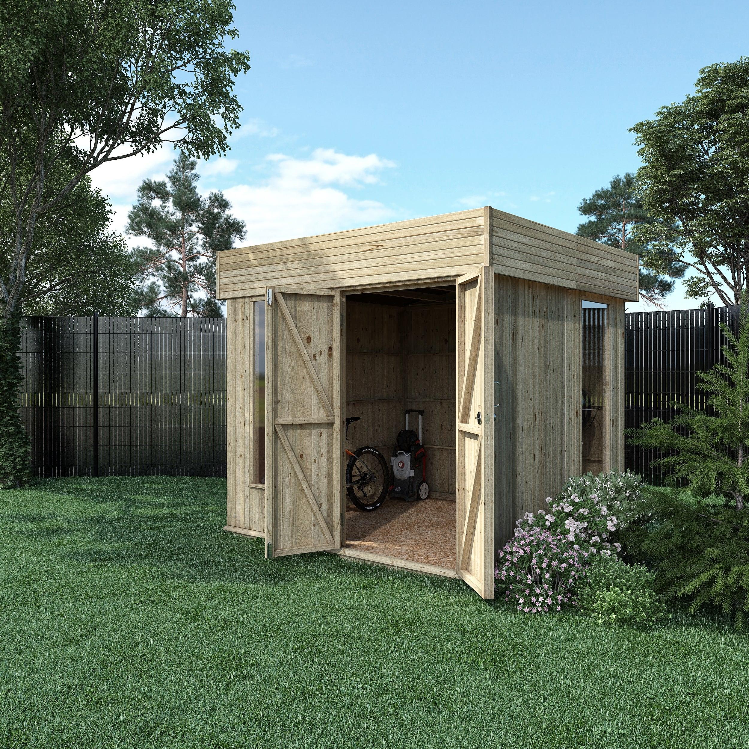Abri De Jardin Bois Hutta L Moderne Ep.15 Mm, 5.15 M² pour Abri De Jardin Moderne