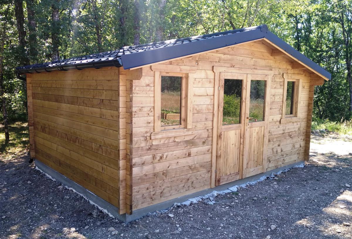 Abri De Jardin Bois Traite - Eco 19.80 M² -Épaisseur 28 Mm tout Abris A Bois
