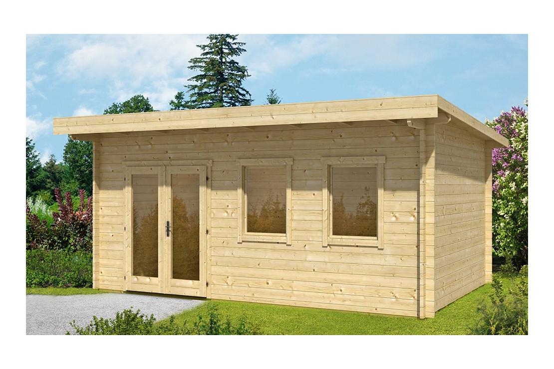 Abri De Jardin Bordeaux 44 Mm - 16,8 M² Intérieur tout Abri De Jardin Monopente
