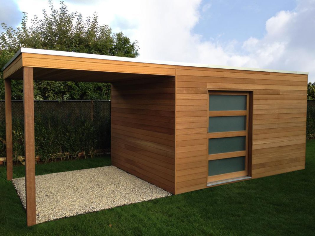 Abri De Jardin Contemporain En 2020   Abri De Jardin Moderne ... intérieur Abri De Jardin Contemporain