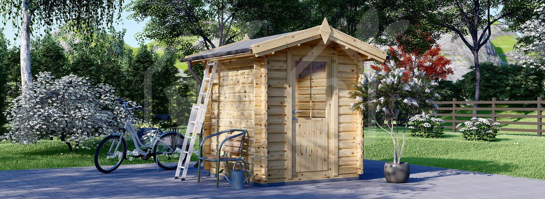 Abri De Jardin Cube (28 Mm), 2X2 M, 4 M² intérieur Abri Jardin 4M2