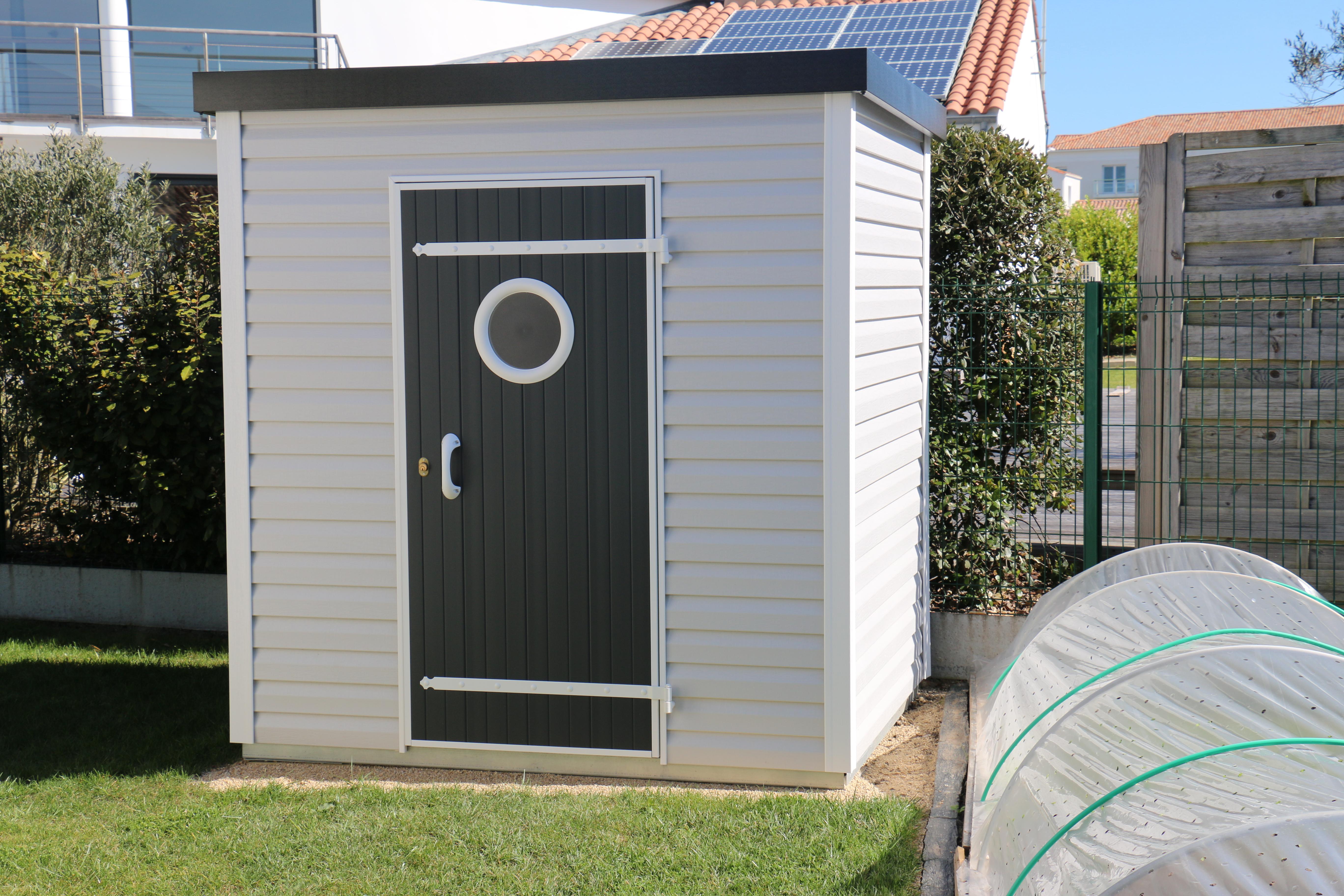 Abri De Jardin Design Toit Plat 3,72 M² - Abri Pvc < 10 M² Nea Concept avec Abri Jardin Design