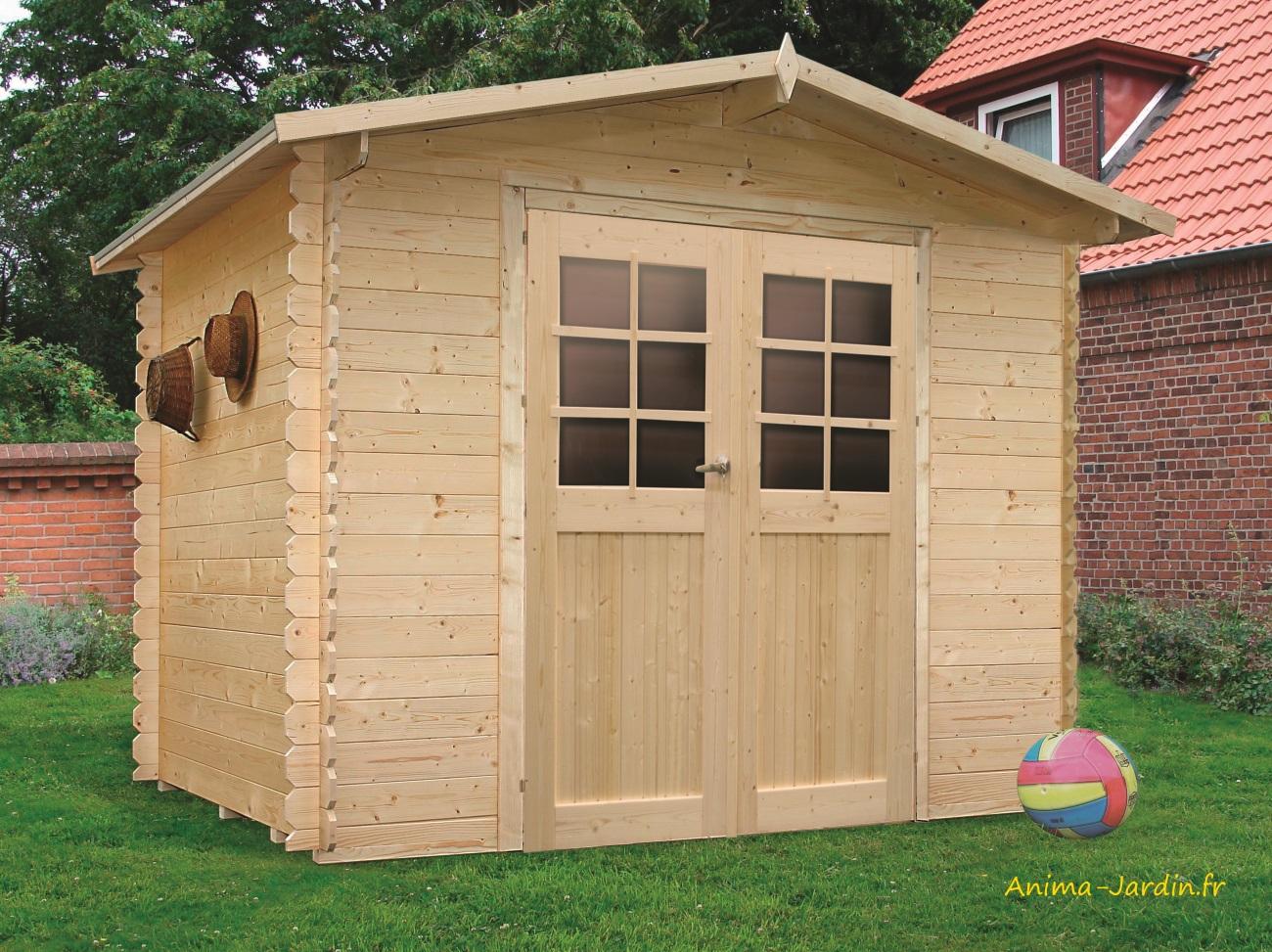 Abri De Jardin En Bois 19Mm, Amberg, 6M², 2 Portes, Solid ... tout Abri De Jardin En Bois Pas Cher