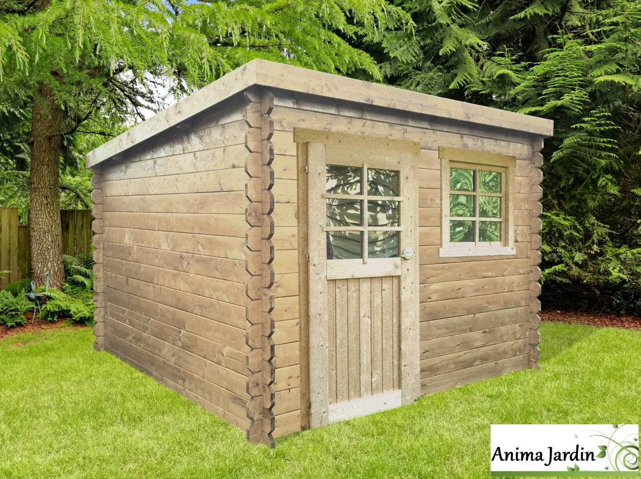Abri De Jardin En Bois 28Mm, Nevers, 5M², 1 Portes, Chalet ... pour Abri De Jardin Pvc Pas Cher