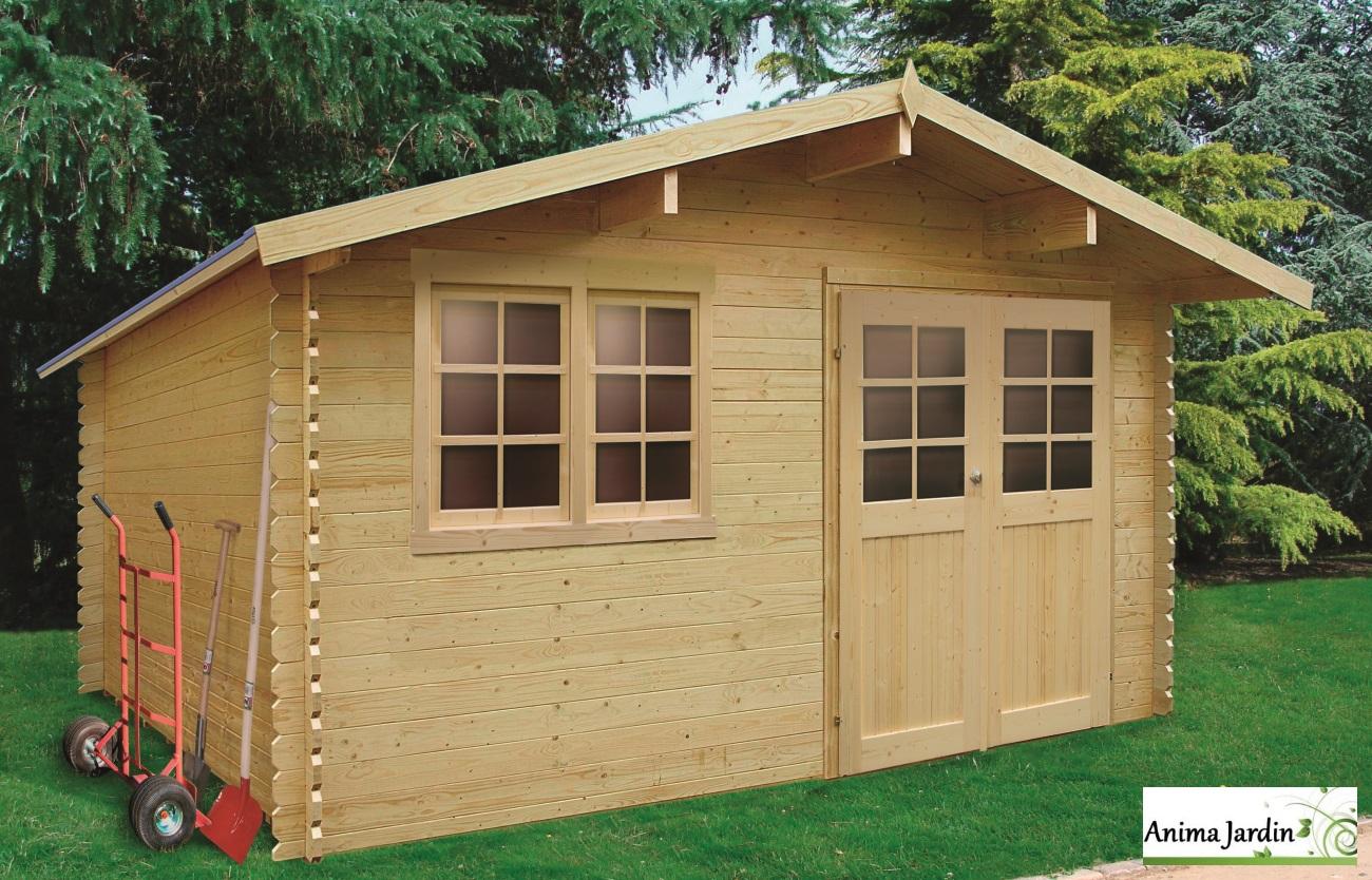Abri De Jardin En Bois 28Mm, Visp, 14M², 2 Portes, Solid ... serapportantà Abri De Jardin En Bois Pas Cher