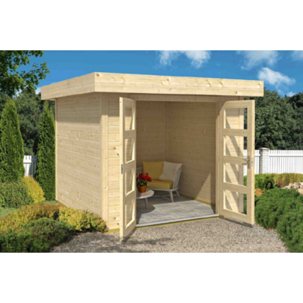 Abri De Jardin En Bois Inka Toit Plat 5.97M² pour Abri Jardin Toit Plat