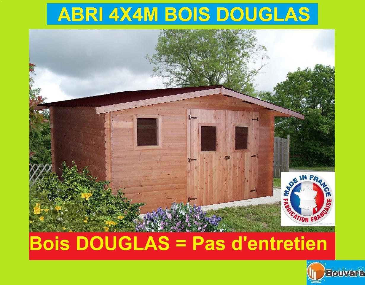 """Abri De Jardin En Douglas 4X4M """"oregon"""" 16M2 encequiconcerne Abri Jardin 12M2"""