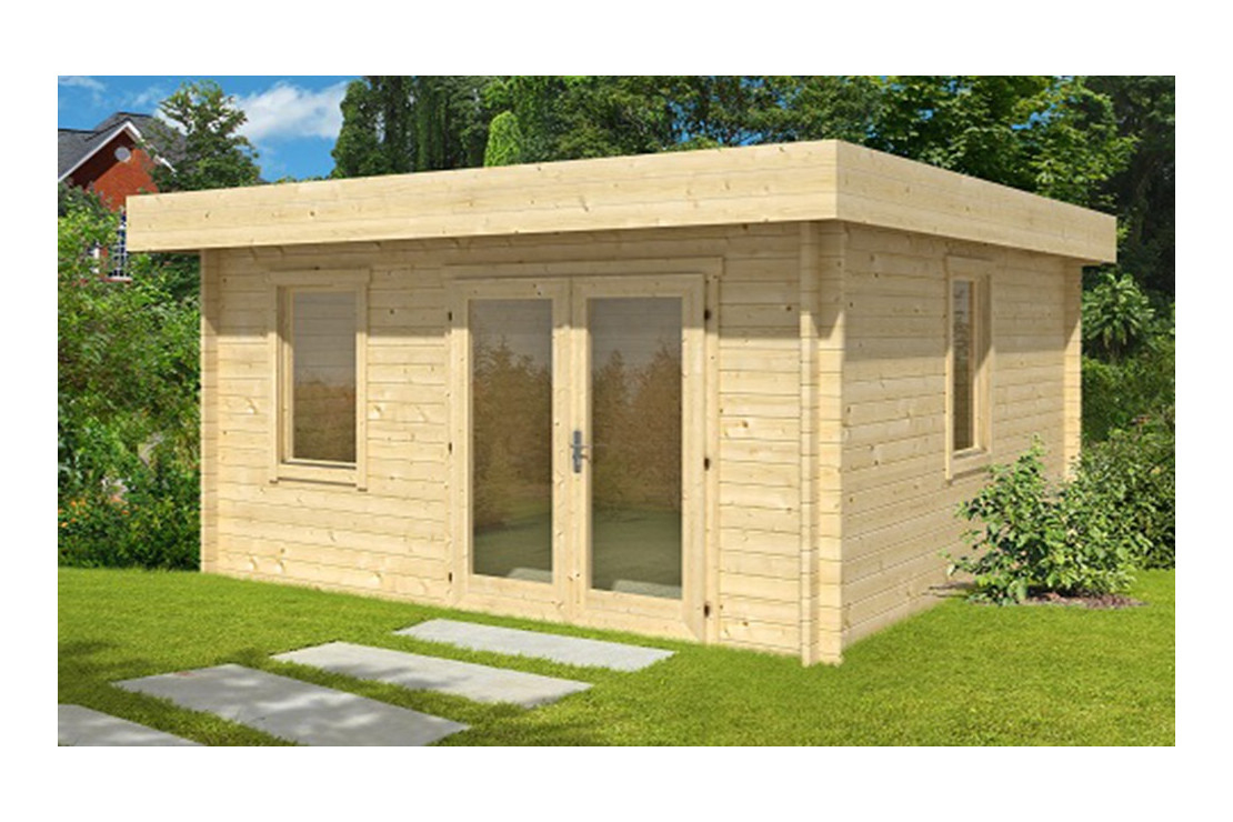 Abri De Jardin Lacanau 28 Mm - 15,5M² Intérieur serapportantà Abri Jardin Bois Toit Plat