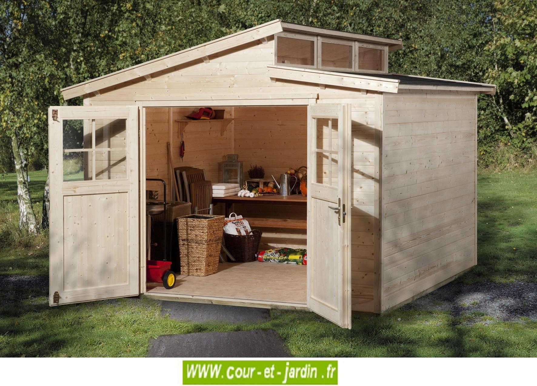 Abri De Jardin Luna 9M² - Abris Et Rangements- Cour Et Jardin pour Abri Moto Bois