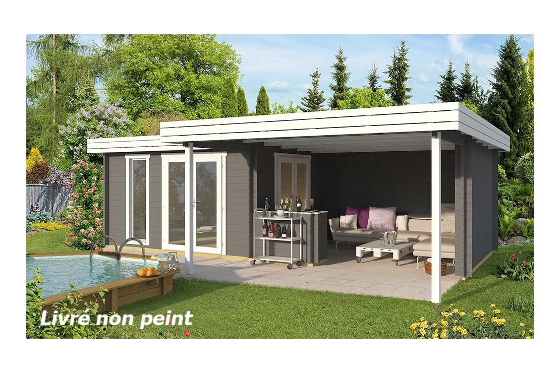 Abri De Jardin Luxembourg 44 Mm - 11,6M² + 18,2M² pour Abris De Jardin 20M2