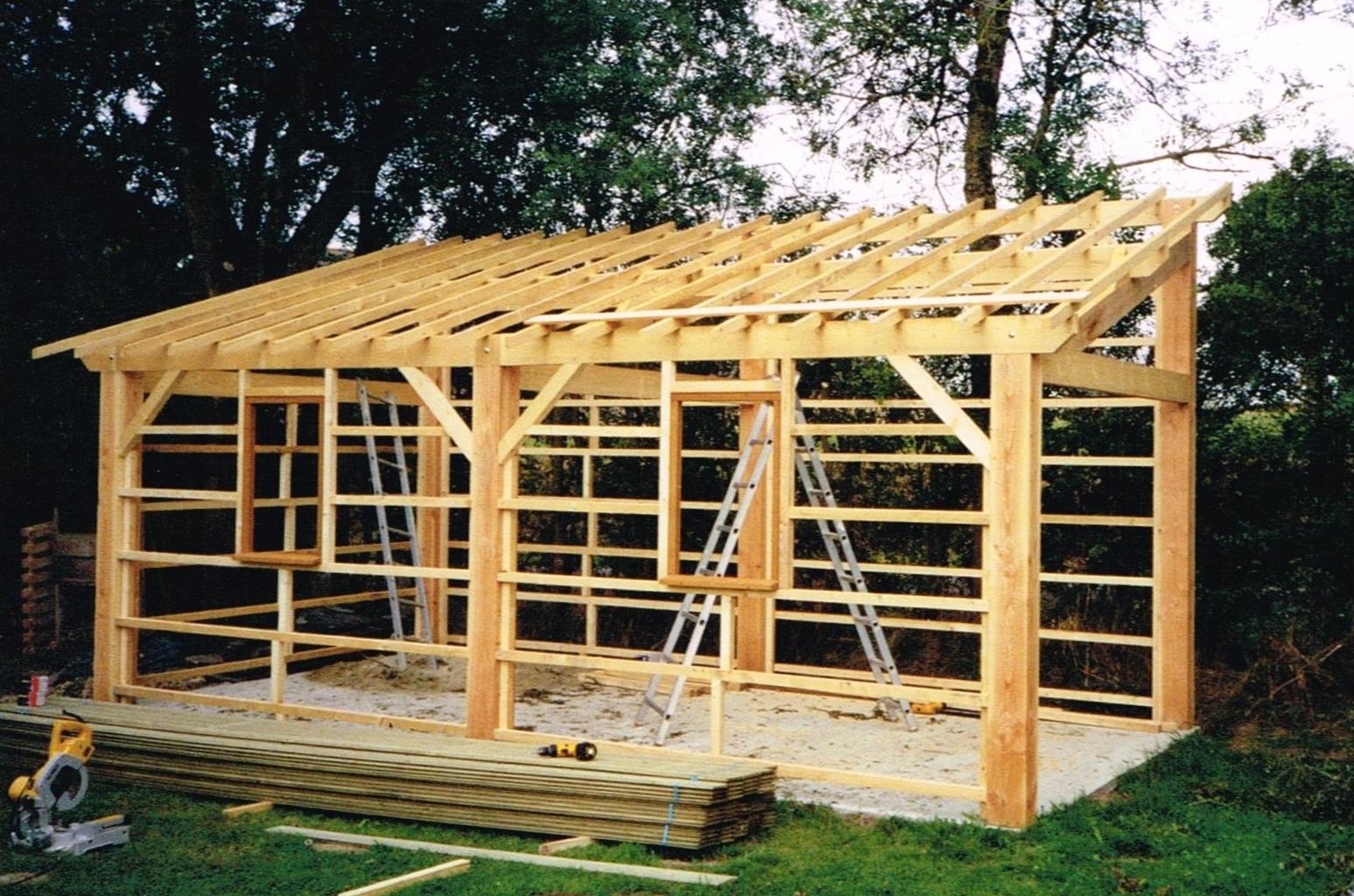 Abri De Jardin - Mc Timonier, Fabrication Charpente En Kit concernant Abri De Jardin 1 Pente