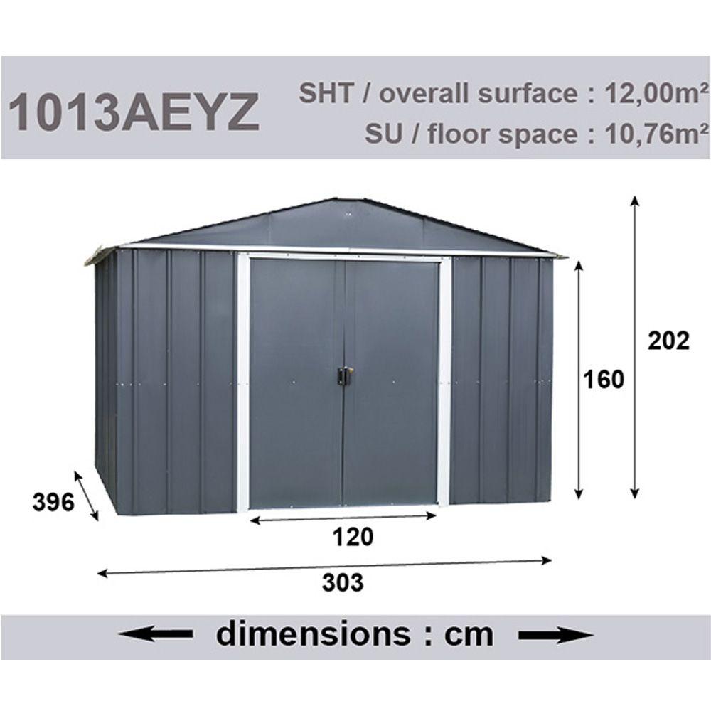 Abri De Jardin Métal 12 M² Ep. 0,30 Mm Yardmaster à Abri Jardin 12M2