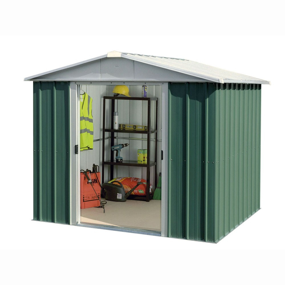 Abri De Jardin Métal Yard Master 5,25 M² Alu Et Vert avec Cabane De Jardin Metal
