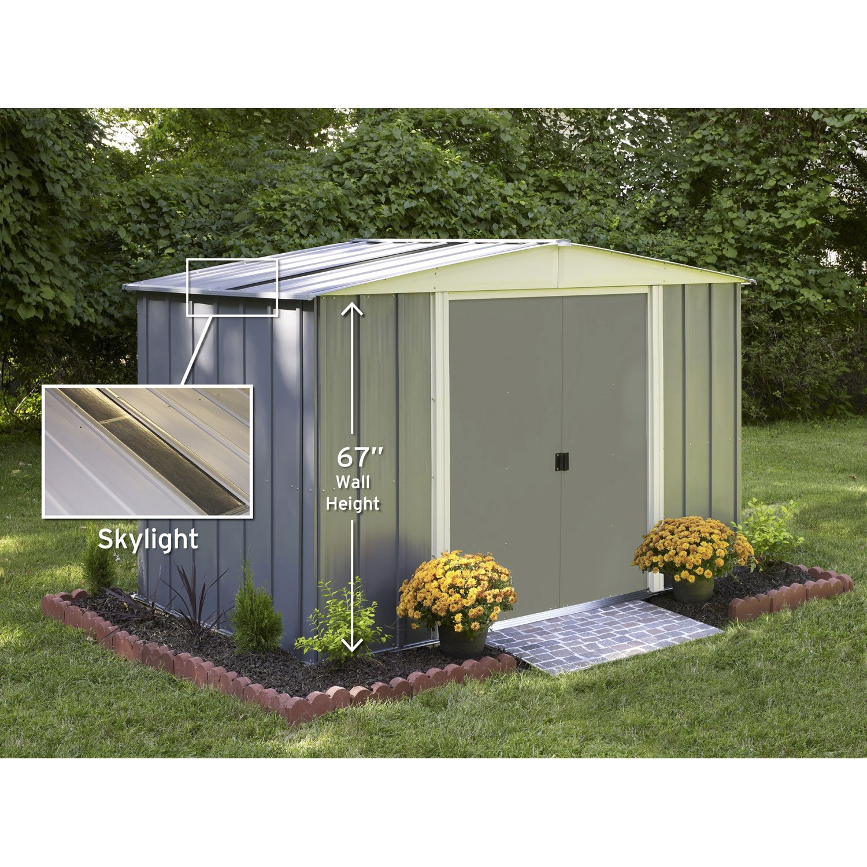 Abri De Jardin Mu00E9Tal Lm10667S, 5.04 Mu00B2 Ep.0.22 Mm ... pour Cabane De Jardin Metal