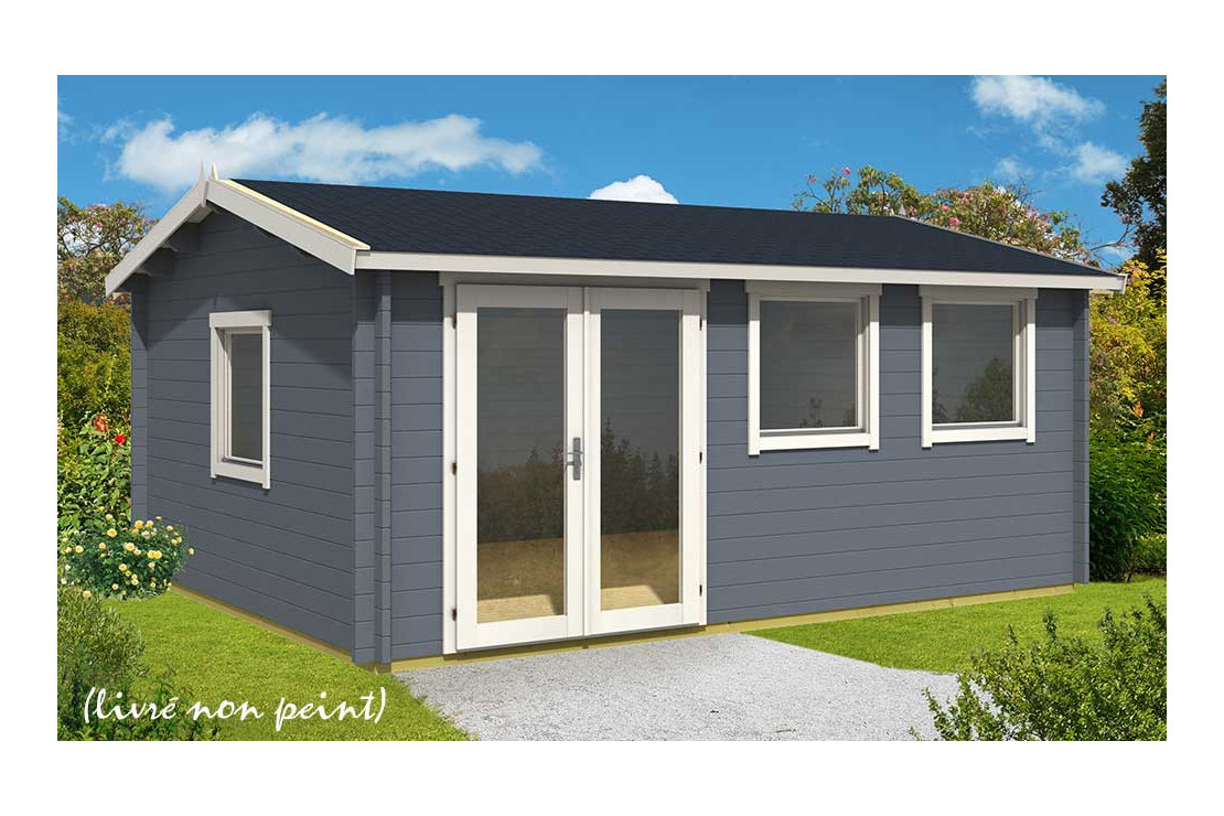 Abri De Jardin Nice 44 Mm Sans Plancher- 19,1M² Intérieur pour Abri De Jardin Sur Mesure