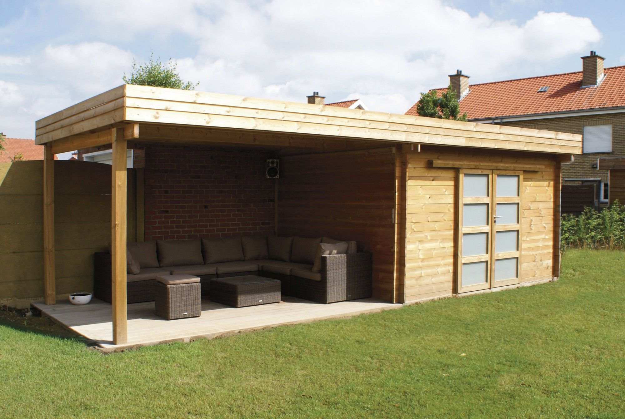 Abri De Jardin Non Clos - Maison Mobilier Et Design | Abri ... concernant Abri Jardin Moderne
