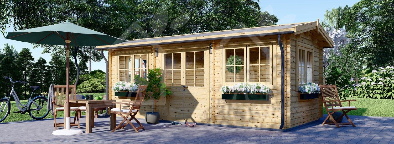 Abri De Jardin Oak (44 Mm), 6X3 M, 18 M² destiné Abri De Jardin 19M2