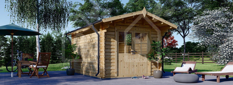 Abri De Jardin Peter (34 Mm), 3X4 M, 12 M² encequiconcerne Cabanon En Bois Pas Cher