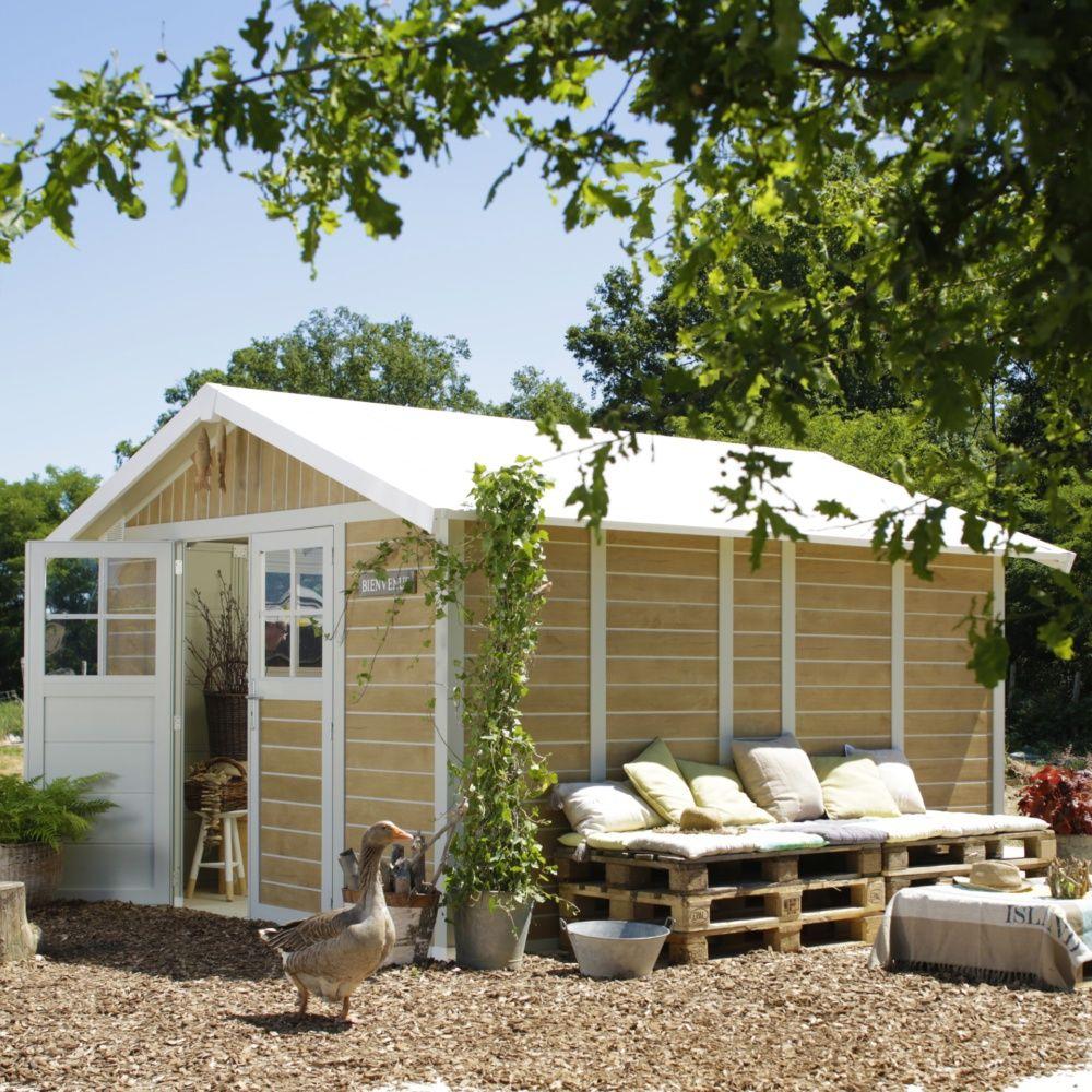 Abri De Jardin Résine Grosfillex 11,2 M² Ep. 26 Mm Sherwood dedans Abri Jardin Grosfillex