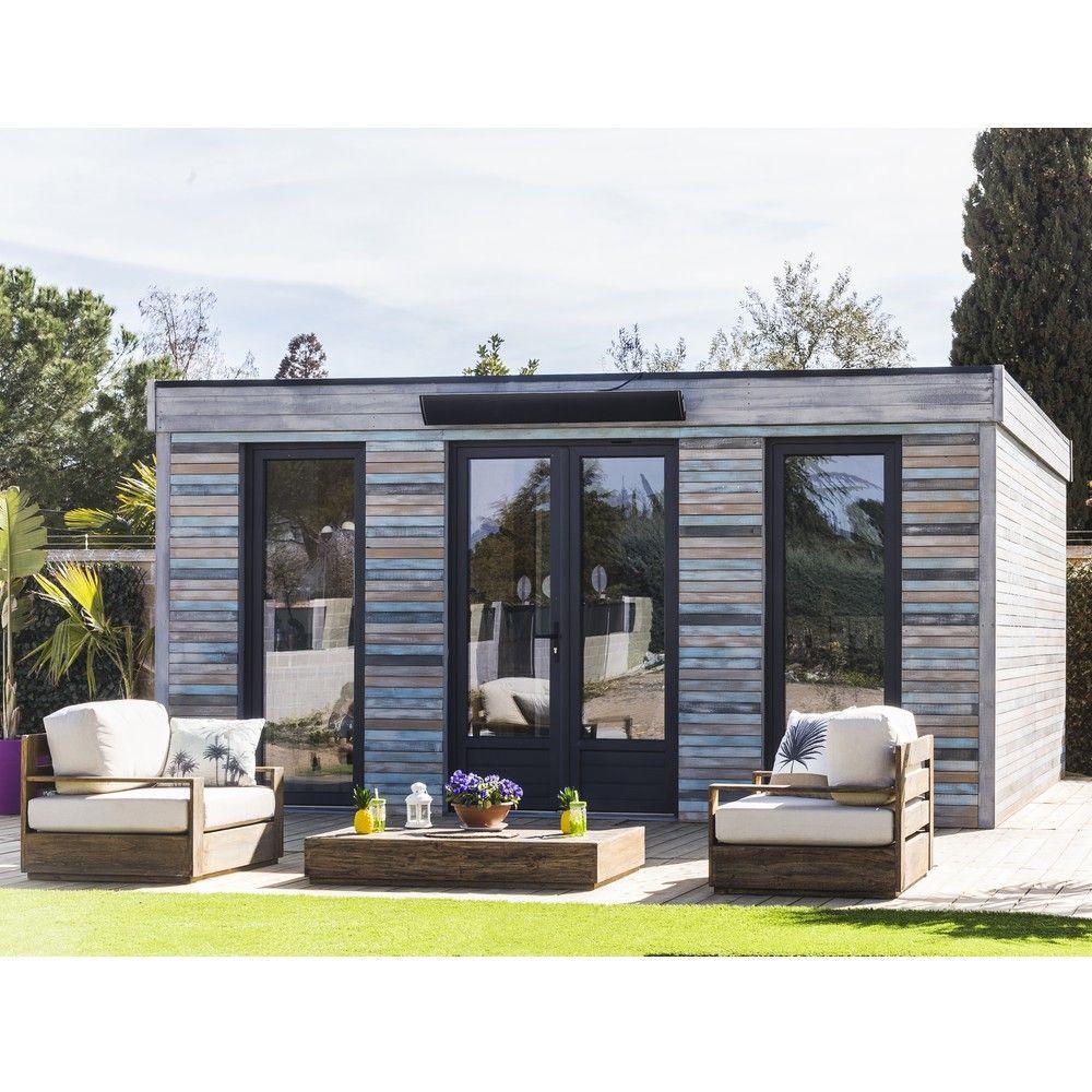 Abri De Jardin Semi Habitable Toit Plat Décor Home 24,70 M² Ep. 90 Mm concernant Abri De Jardin Pvc Toit Plat