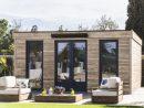 Abri De Jardin Semi Habitable Toit Plat Décor Home 24,70 M² Ep. 90 Mm pour Abri Bois Toit Plat