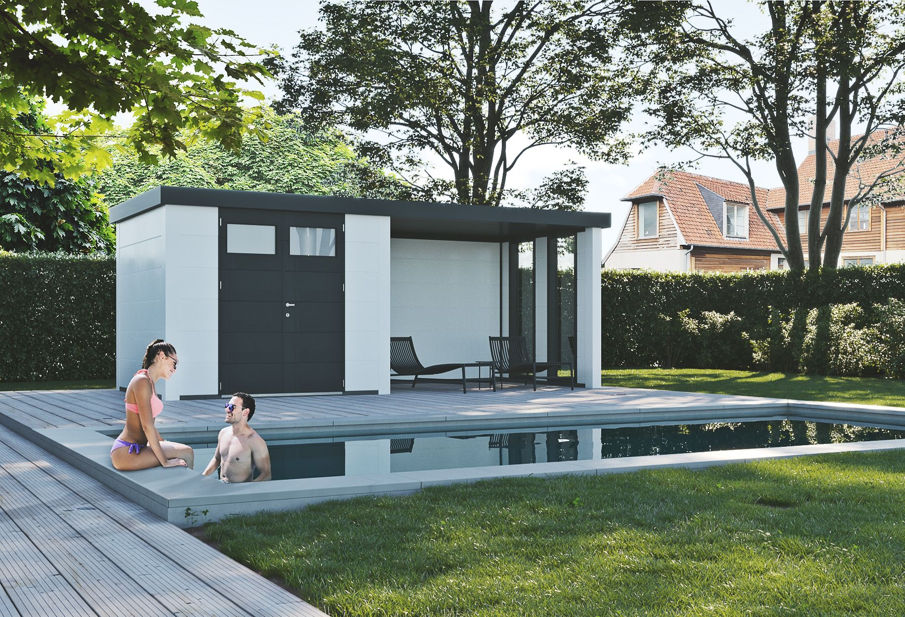 Abri De Jardin Tanos Lounge 12.5M - Anthracite concernant Abri De Jardin Contemporain