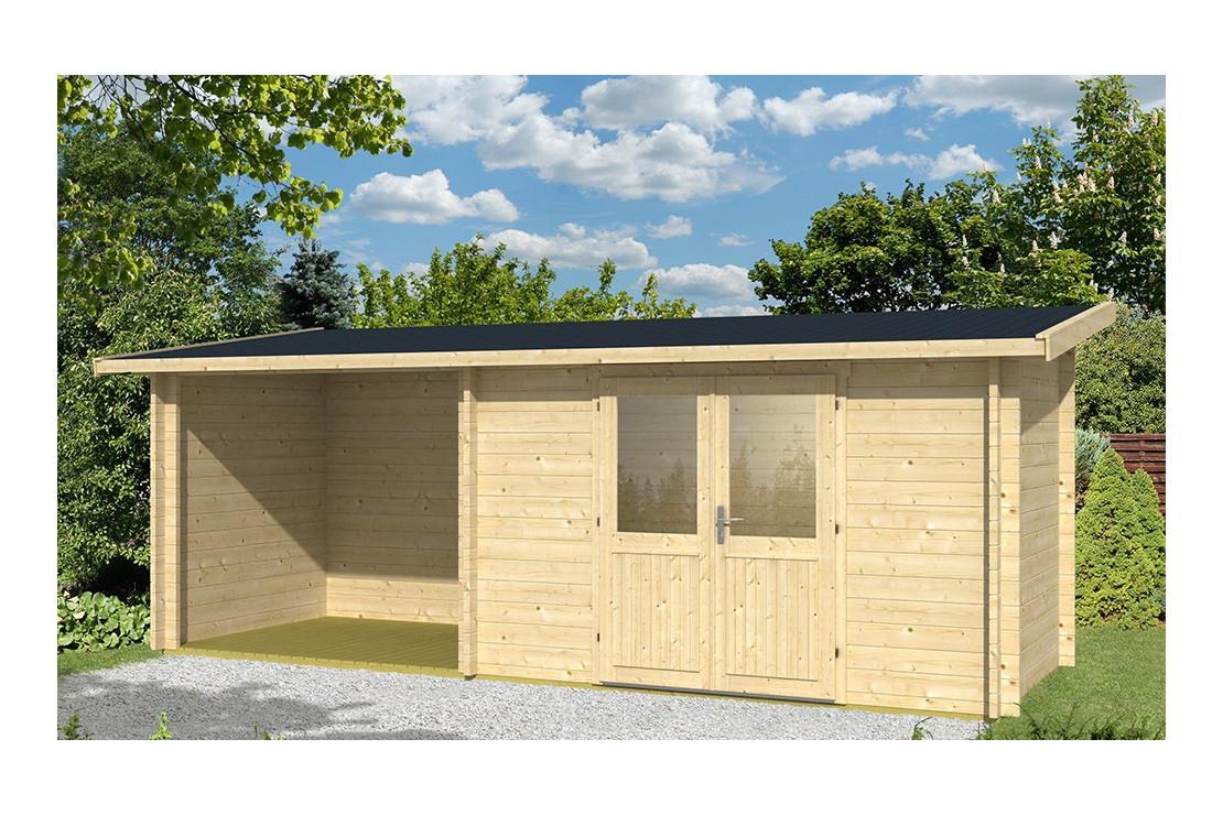 Abri De Jardin Tarbes 44Mm - 6,3M² Intérieur + 4,9M² encequiconcerne Abri De Jardin Monopente