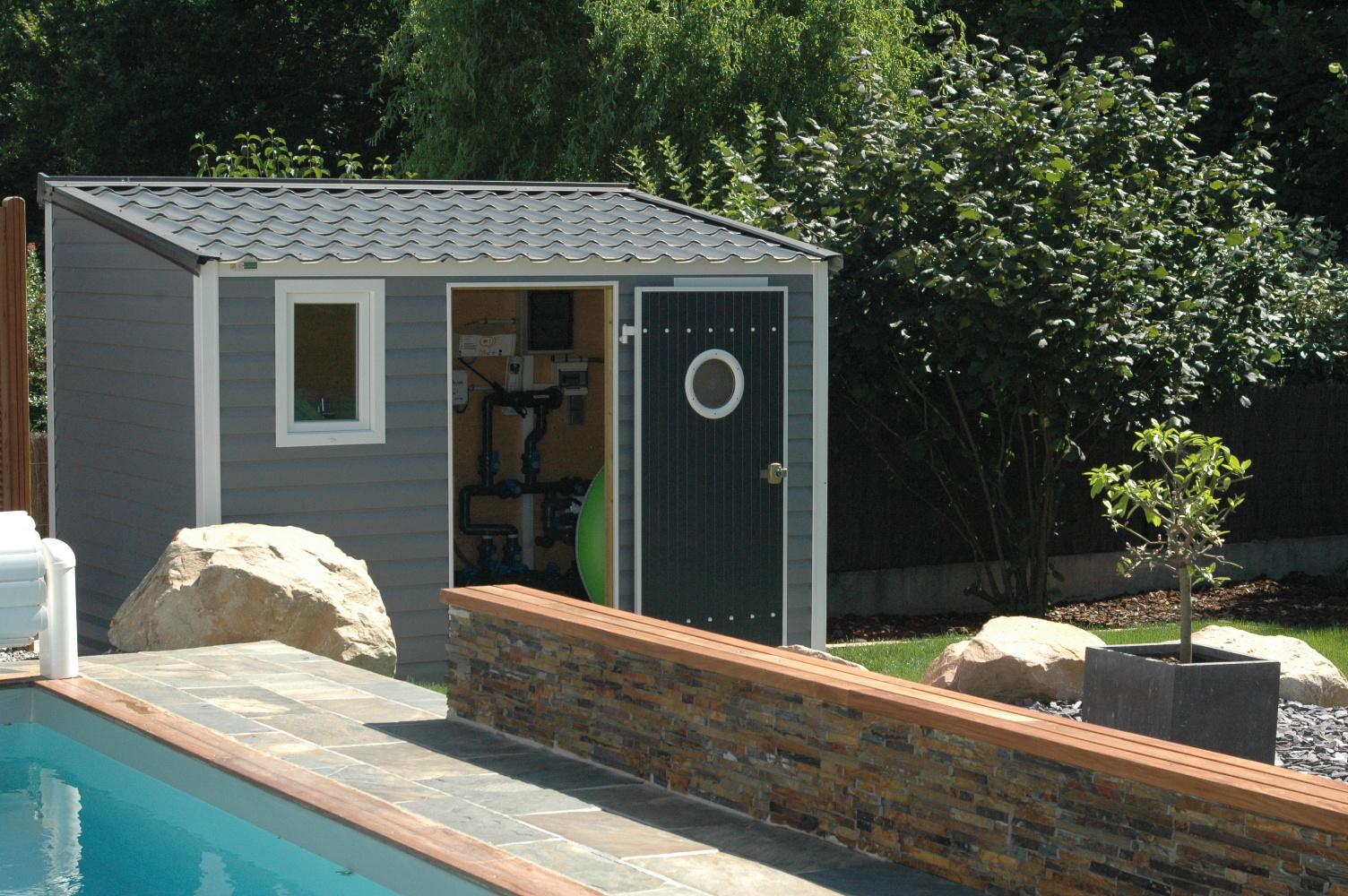 Abri De Jardin Toit 1 Pente 7,80 M² - Abri Pvc < 10 M² Nea Concept avec Abri De Jardin 1 Pente