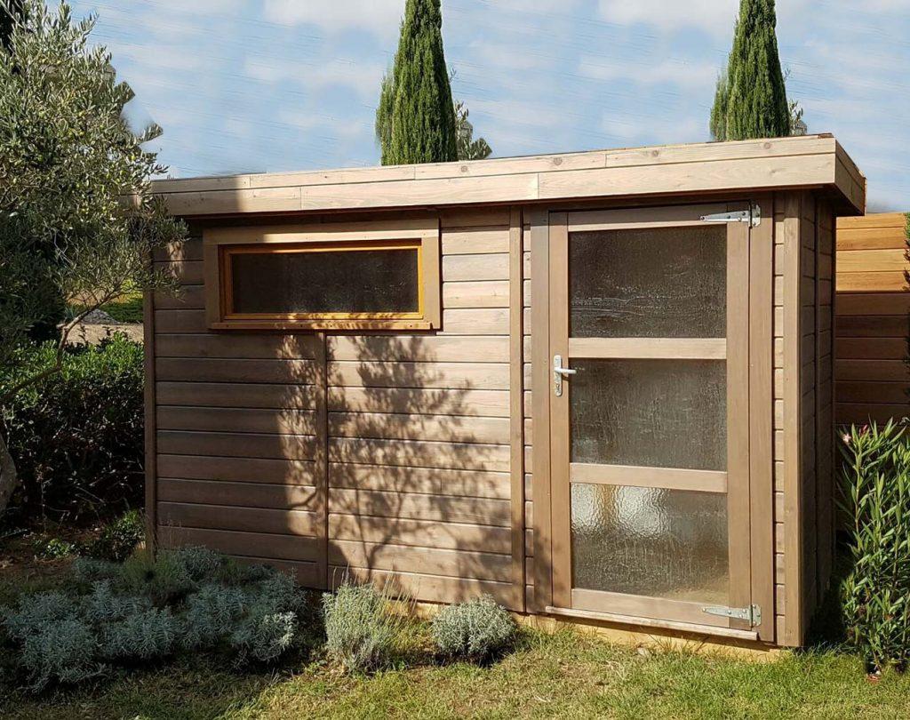 Abri De Jardin Toit Plat Avec Débord De -5M2 À 20M² Cancale destiné Abri De Jardin En Bois 5M2