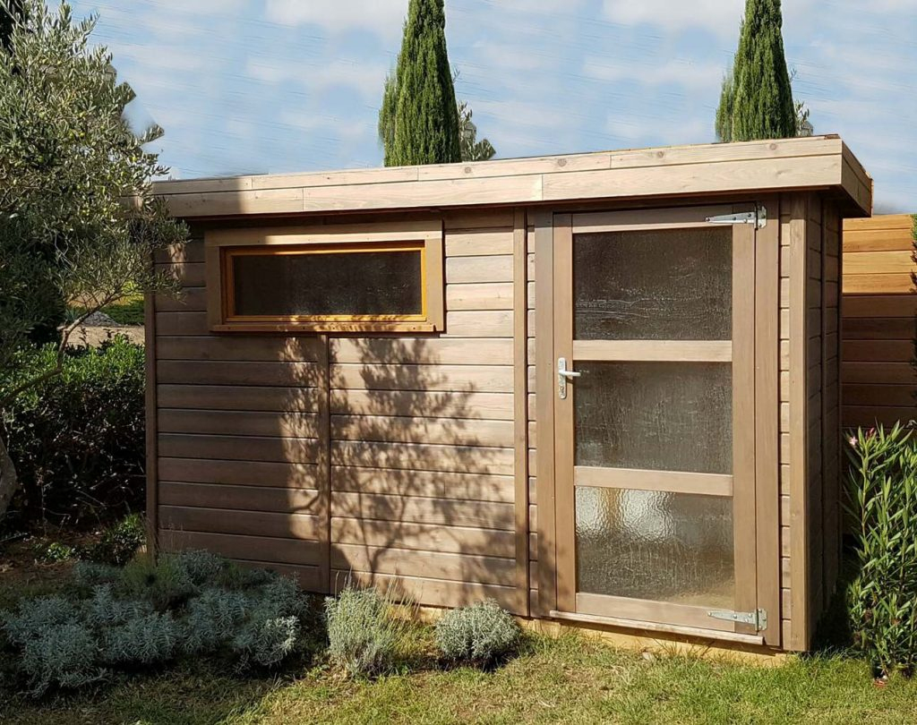 Abri De Jardin Toit Plat Avec Débord De -5M2 À 20M² Cancale tout Abri De Jardin 5M2
