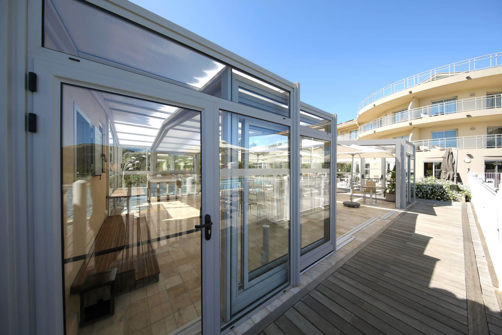 Abri De Terrasse Aluminium Chr (Cafés, Hôtels Et Restaurants) à Abri Terrasse Coulissant