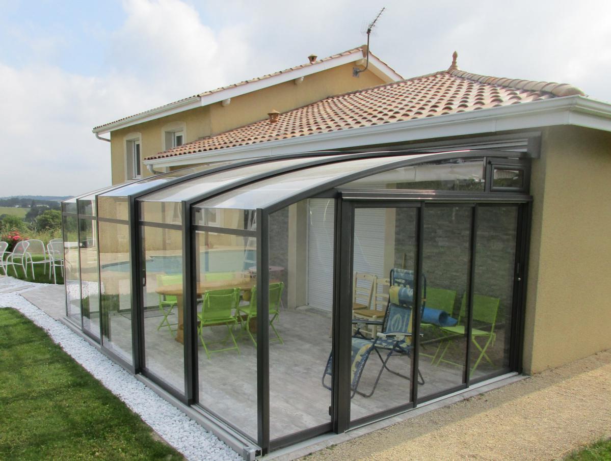 Abri De Terrasse Coulissant Et Veranda Retractable Aluminium ... à Abris De Terrasse