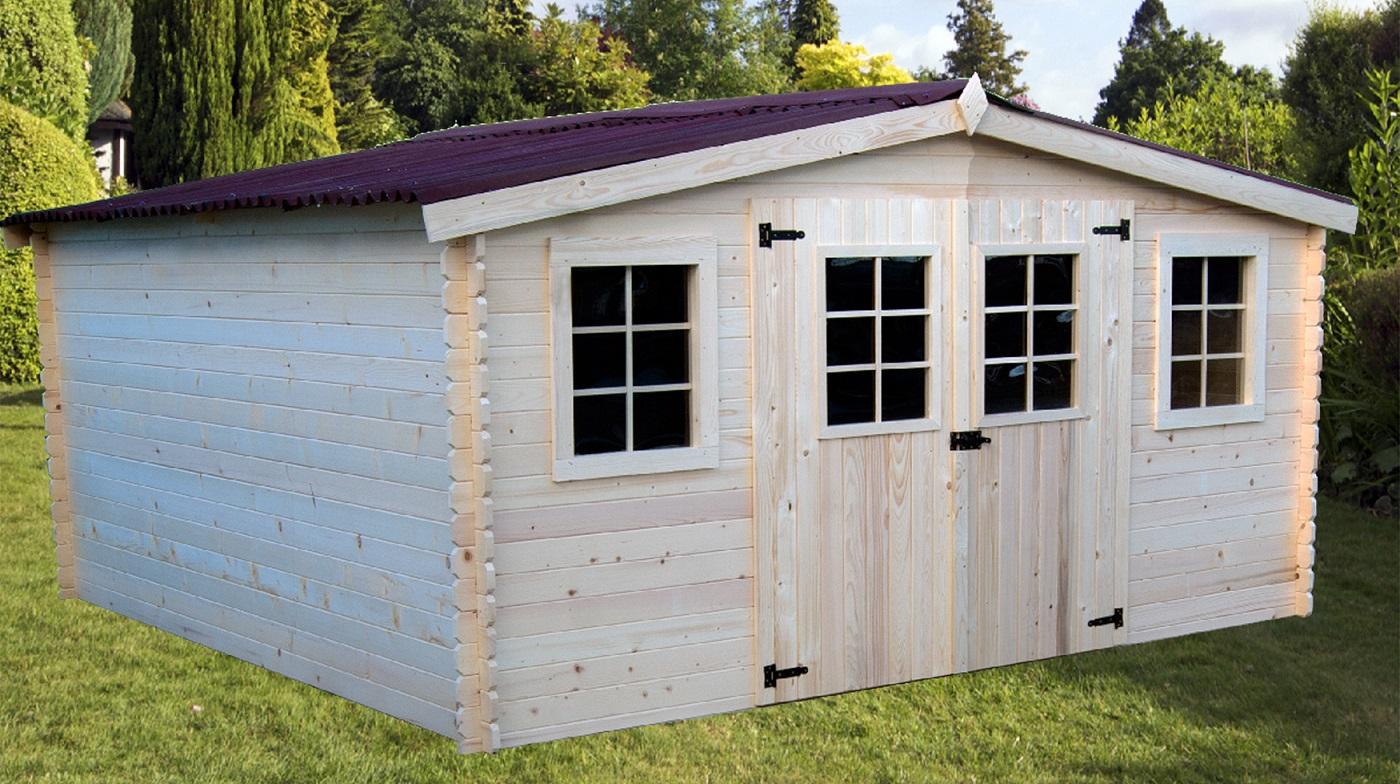 Abri Jardin Bois Bandol 4,16X4,04M 17M2 Sans Plancher intérieur Abri De Jardin Pas Cher En Bois
