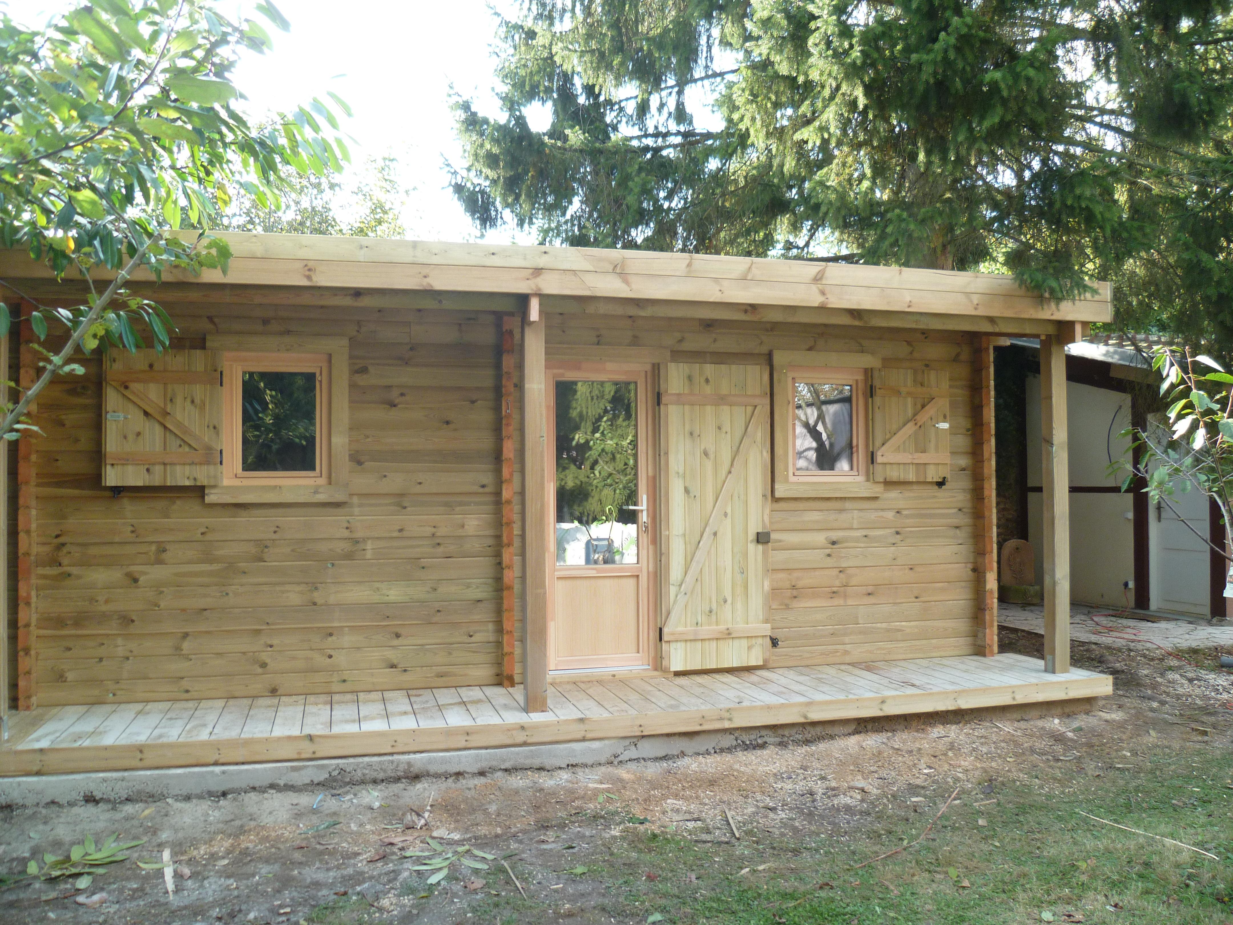 Abri Jardin Bois Haut De Gamme - Chalet Luxe  Destombes Bois pour Abris De Jardin 20M2