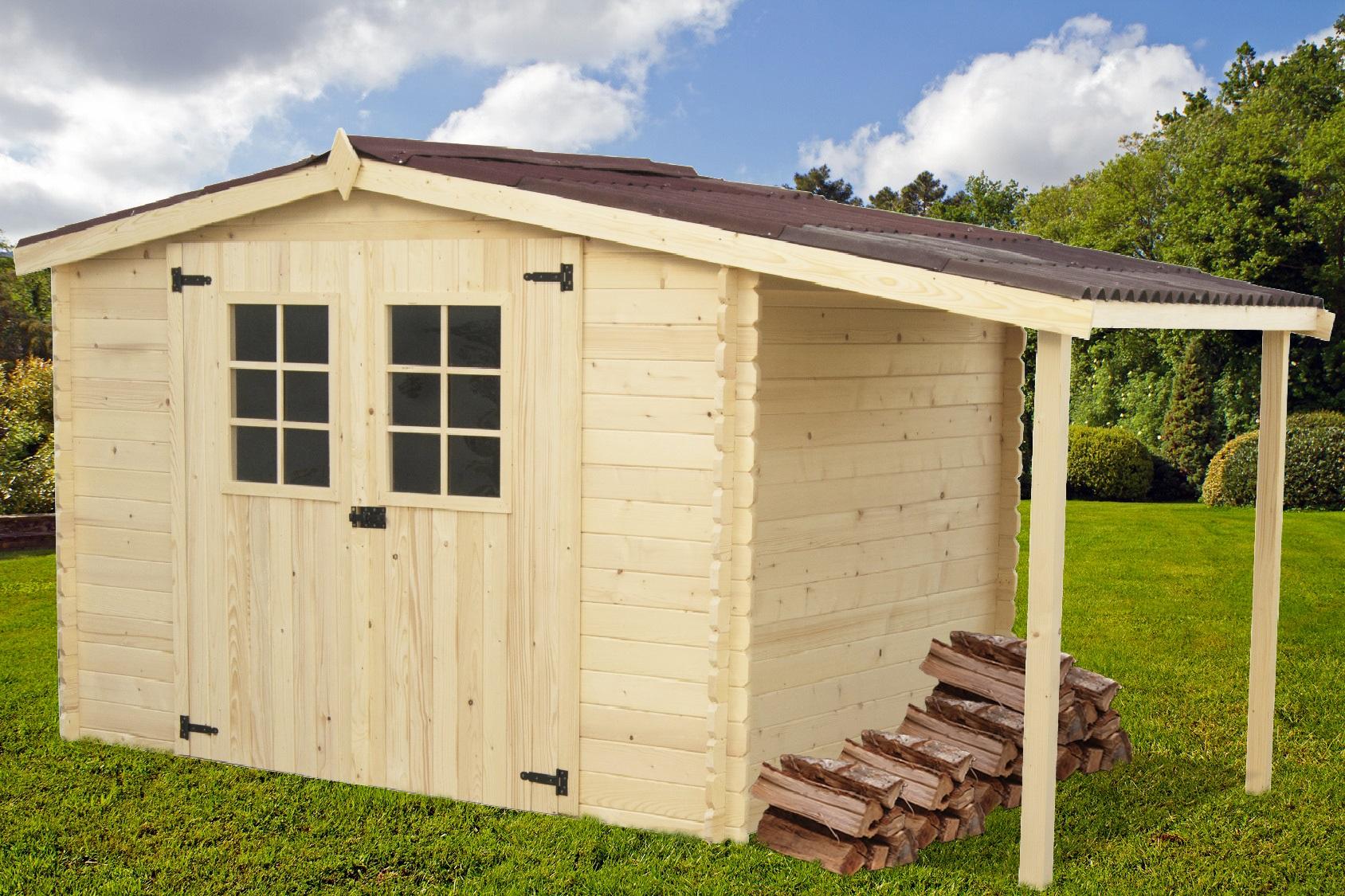 Abri Jardin Bois Montana Bucher 4,15X2,04M destiné Abri De Jardin En Bois 5M2