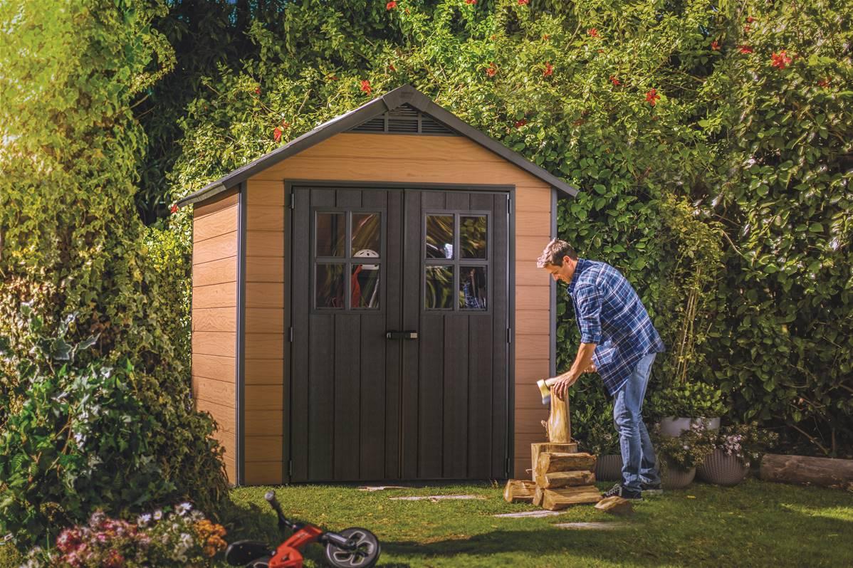 Abri Jardin Résine – Woodium® 757 Keter destiné Abris De Jardin Resine