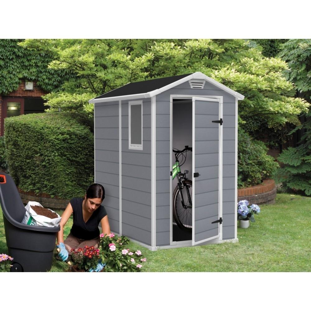Abri Keter Premium 46Sp Gris 1 Fenêtre Fixe 1.96M2 concernant Abri De Jardin Pvc Pas Cher