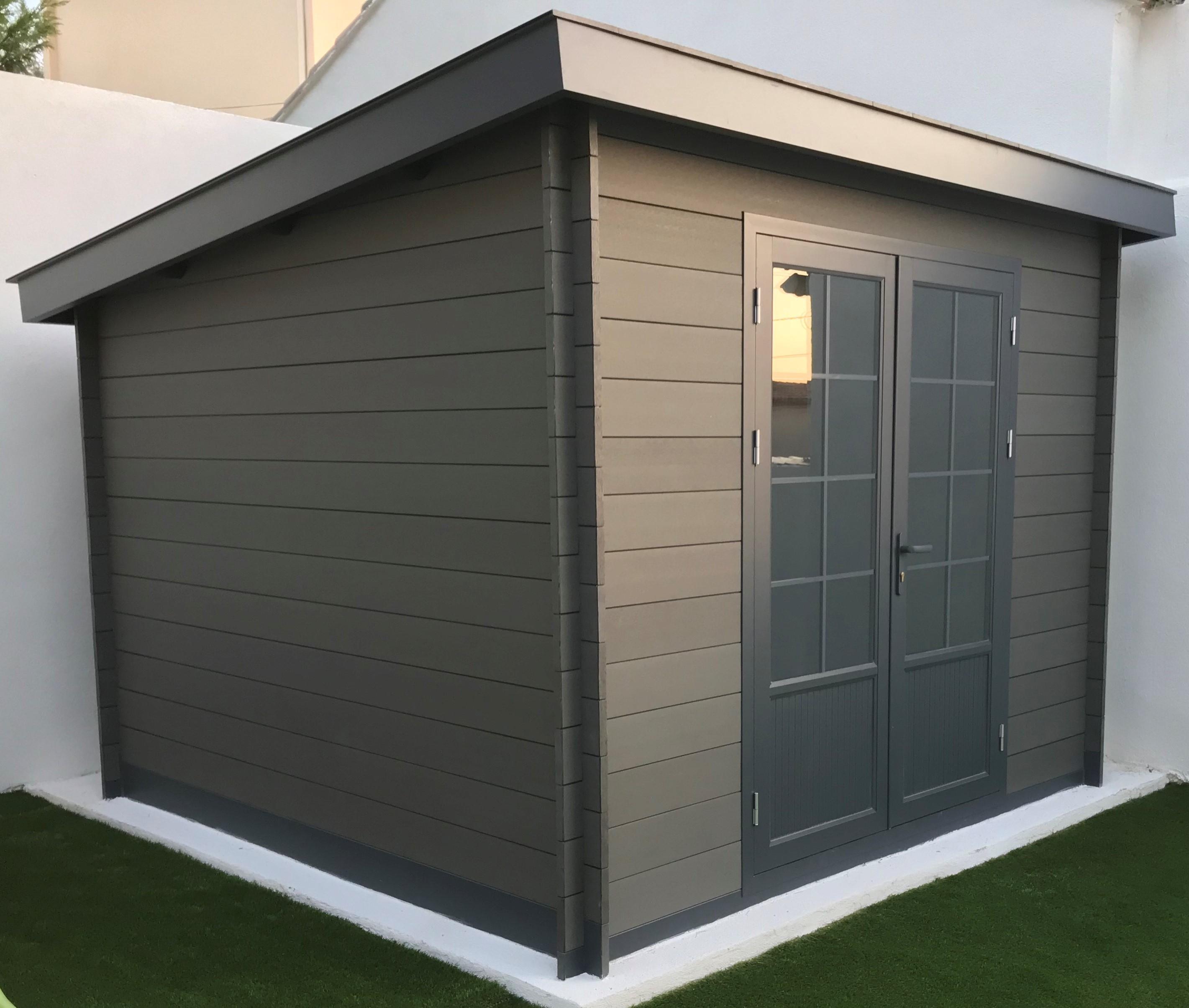 Abri Moderne 3×3 Toit Monopente – Green Outside avec Abri Jardin Monopente