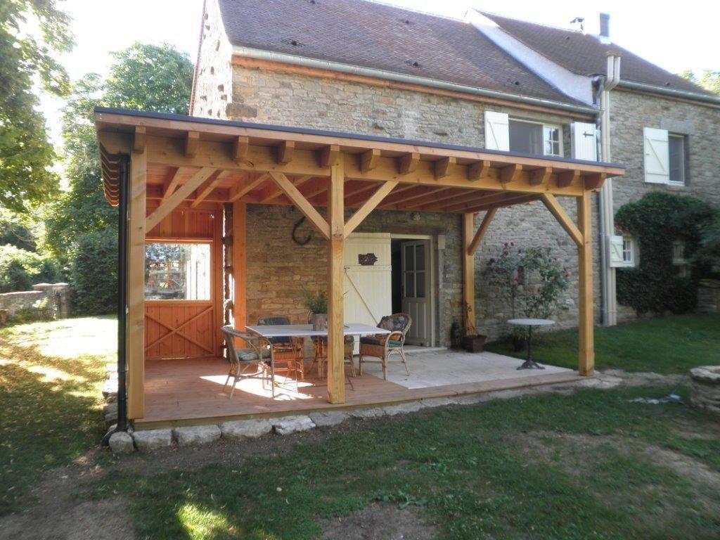 Abri Terrasse À Toit Plat - Le Blog Du Menuisier De La Rochepot à Terrasse Toit Plat