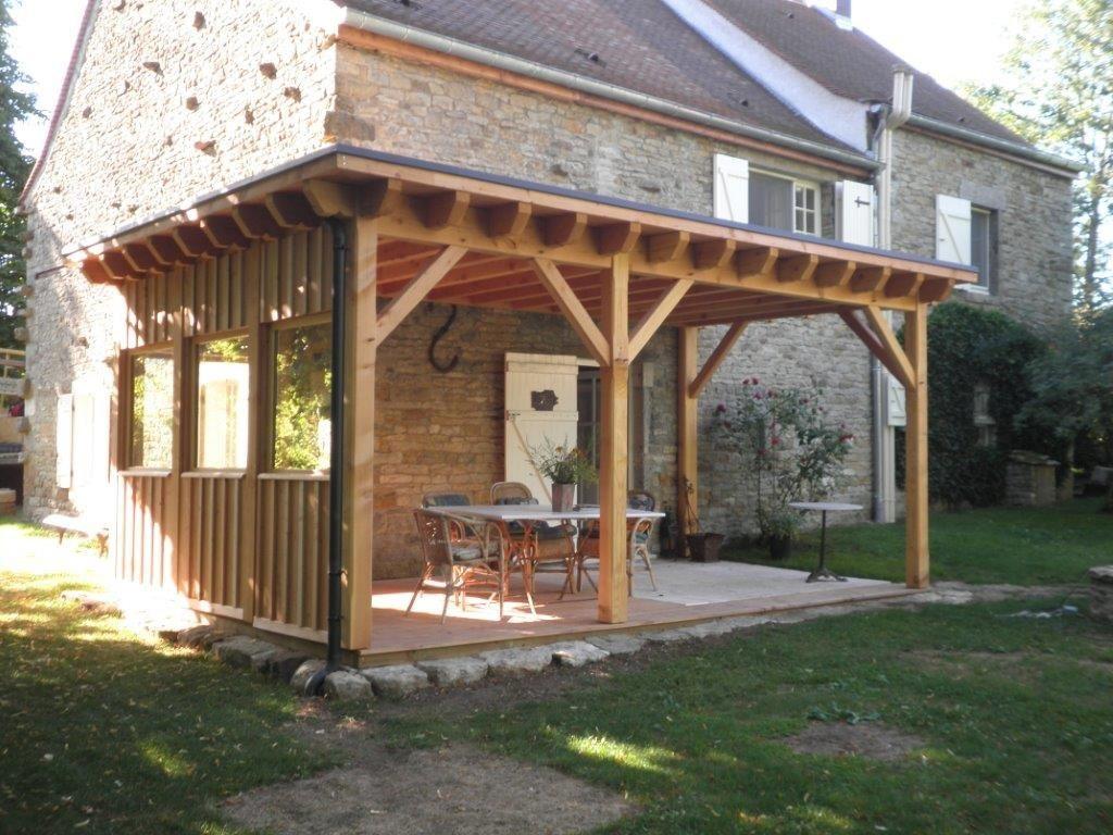Abri Terrasse À Toit Plat - Le Blog Du Menuisier De La Rochepot pour Terrasse Toit Plat