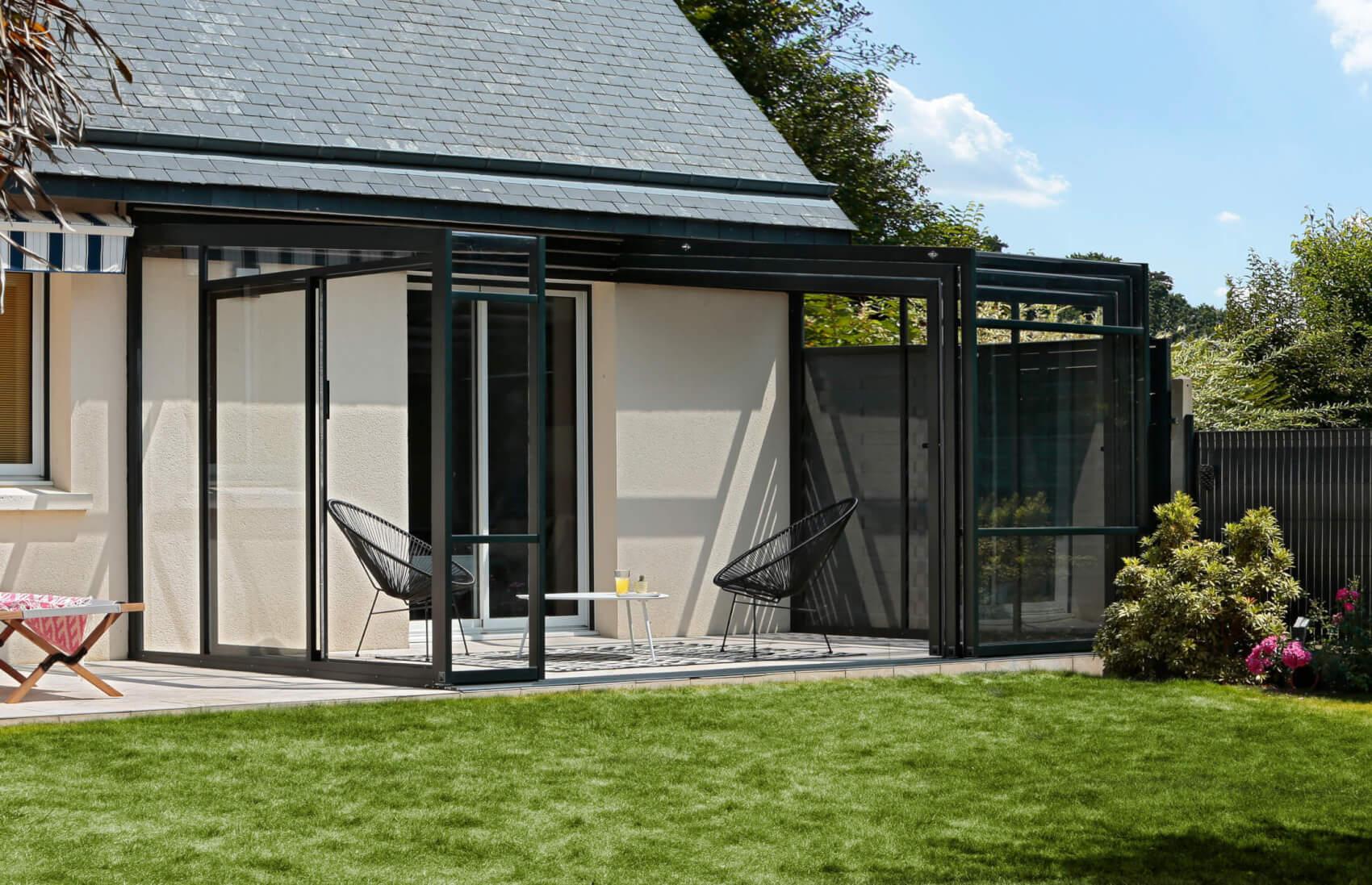 Abri Terrasse Aluminium - Modèles Coulissants ... destiné Abri De Terrasse Ferme
